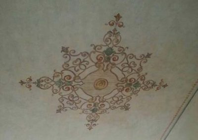 100 year old ceiling art