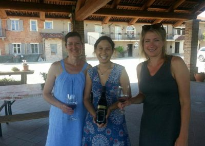 With the winemaker and my travel companion Julie