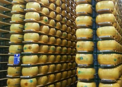 The Parmigiano storage is pure art