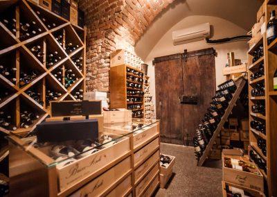 Their wine cellar. Good lord!